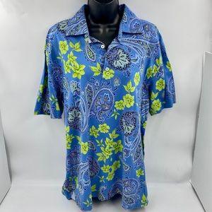 Tommy Hilfiger Mens Large Polo Shirt Hawaiian